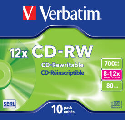 CD-RW DataLifePlus 8-12X 700MB