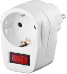 Safety socket adapter, Blanc