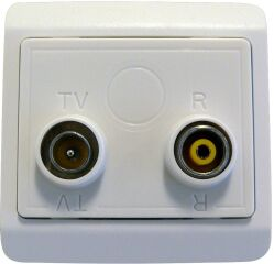 Wall outlet Odin T0B Blanc