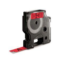 D1 12mm tape sort/rød