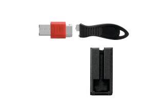 USB Lock W Cable Guard Square