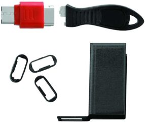 USB Lock W Cable Guard Rectang