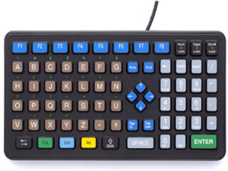 Rugged Alphabetic Clavier officiel - iKey - DP-72-USB