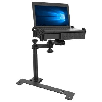 NO-DRILL LAPTOP MOUNT WITH
