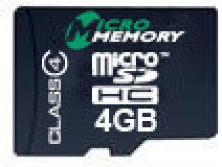 4GB MicroSDHC Class 4