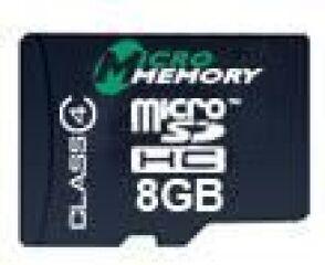 8GB MicroSDHC Class 4